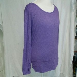 Lucy purple long sleeved workout top